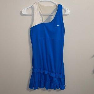 Nike medium Tennis Dress court women's blue ruffle